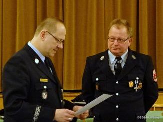JHV 2015 Ehrung für 40 Jahre Feuerwehrdienst Jürgen Müller